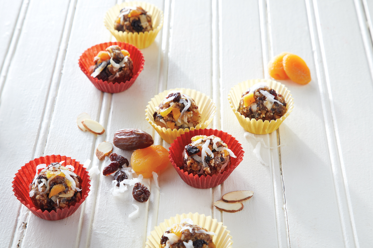 Coconut Raisin Granola Bites