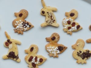 Animal-shaped cookies
