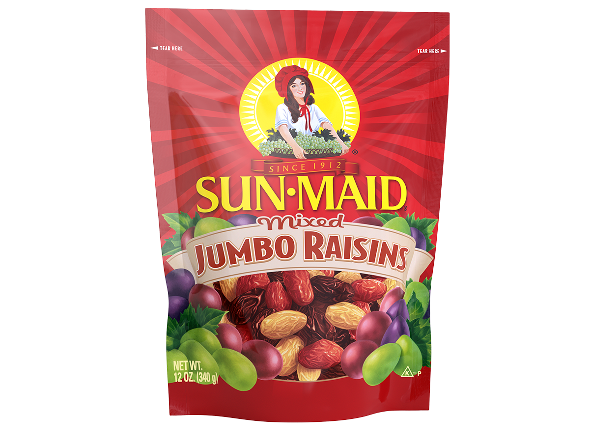 Sun-Maid Mixed Jumbo Raisins 12 oz. bag