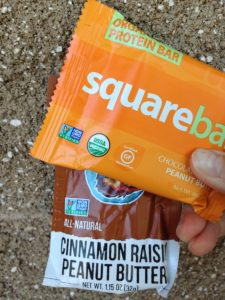 Square bar and peanut butter