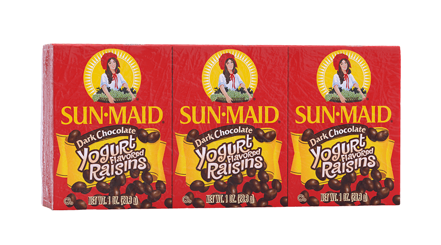 Sun-Maid Dark Chocolate Yogurt Flavored Raisins 1 oz. boxes (pack of 6)