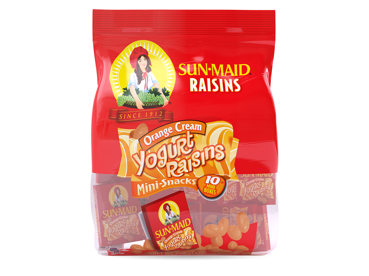 Sun-Maid Orange Cream Yogurt Raisins Mini-Snacks (10 pack)