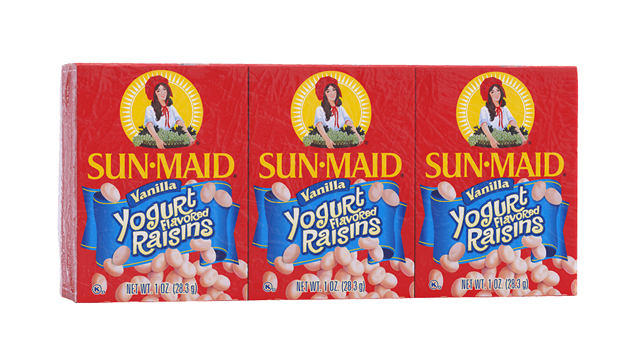 Sun-Maid Vanilla Yogurt Flavored Raisins 1 oz. boxes (pack of 6)