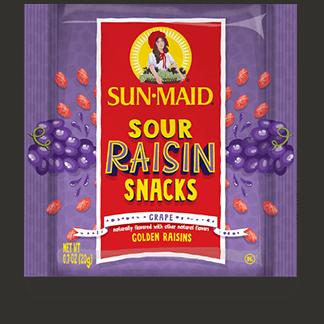 Sun-Maid Grape Sour Raisin Snacks 0.7 oz. pouch
