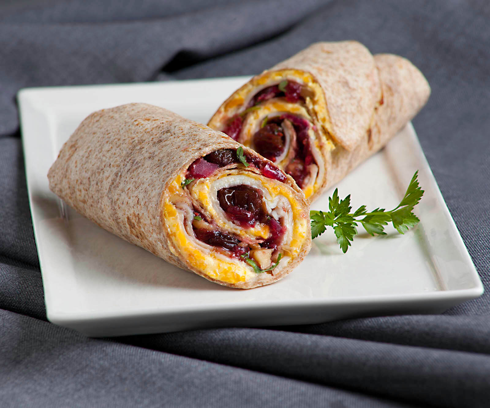 Cranberry-Raisin Turkey Wrap