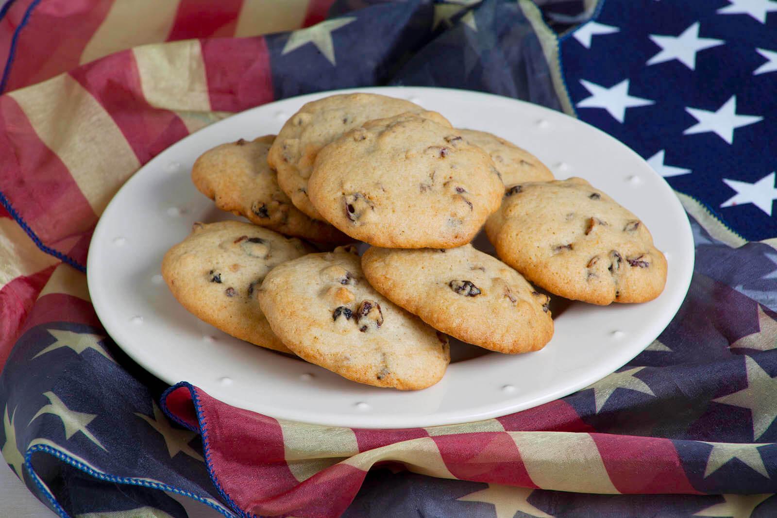 Presidential Currant Pecan Sugar Cookies